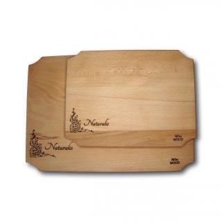 Tocator din lemn de fag, set 2 buc - colectia Naturalis