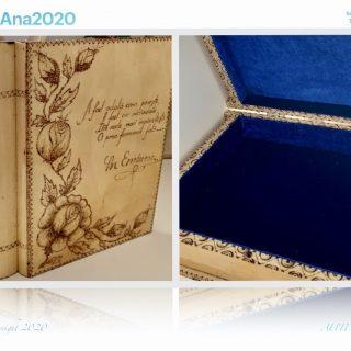 Coperta carte din lemn - model unic pentru iubitorii de poezie