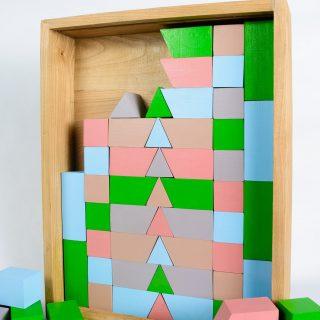Set forme geometrice din lemn