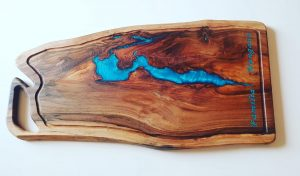 Emerald Woodart Wood And Resin Tocator Bucatarie Personalizat Premium Fabricat In Romania